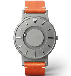 Eone Bradley Special Edition Braille Titanium Golden Brown Leather Strap Watch BR-KBT