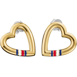 Tommy Hilfiger Fine Core Gold Plated Open Heart Stud Earrings 2700910