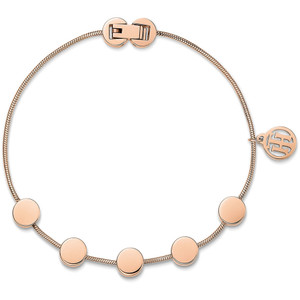 Tommy Hilfiger Fine Core Rose Gold Multi Coin Bracelet 2700981
