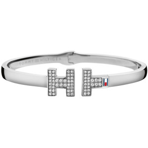 Tommy Hilfiger Fine Core Silver Crystals Stone Bangle 2700983
