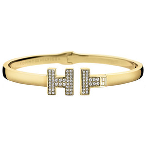 Tommy Hilfiger Fine Core Gold Plated Crystals Stone Bangle 2700984