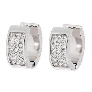 Tommy Hilfiger Holiday Swarovski Crystals Pave Huggie Earrings 2700572
