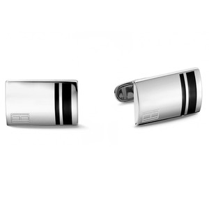 Tommy Hilfiger Casual Core Men's Polished Stainless-Steel Rectangle Cufflinks 2701019