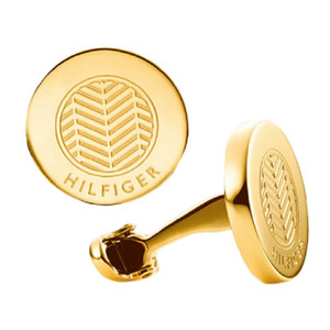 Tommy Hilfiger Cool Core Men's Gold Plated Stainless-Steel Herringbone Cufflinks 2700587