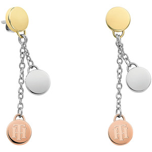 Tommy Hilfiger Classic Signature Coin Drop Earrings 2700992