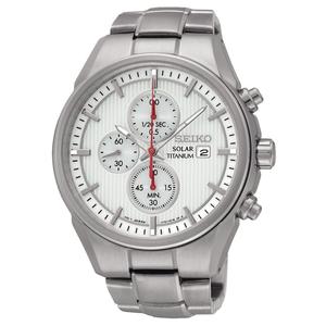 Seiko Mens Chronograph Solar Powered Titanium Watch SSC363P1