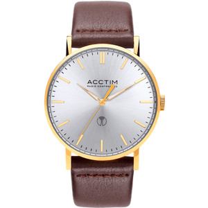 Acctim Sterling Men's Radio Controlled Silver Dial Leather Strap Watch 60428
