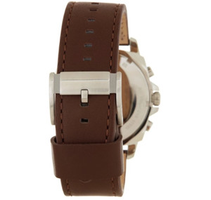 Replacement Strap for Fossil BQ1732 Brown Genuine Leather With Free Pins