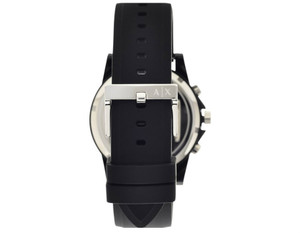 Armani Exchange Replacement Watch Strap For AX1326 Black Silicon With Free Connecting Pins