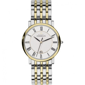 Michel Herbelin Men's Parisian Two Tone Stainless-Steel Bracelet Watch 12543/BT01