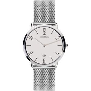Michel Herbelin Men's Ikone Grande White Dial Stainless-Steel Bracelet Watch 19515/21B