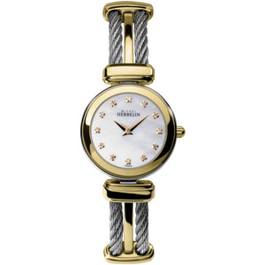 Michel Herbelin Women's Cable White Mother Of Pearl Dial Watch 17420/BT59