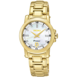 Seiko Women's Premier Mother Of Pearl Dial Bracelet Watch SXDG04P1