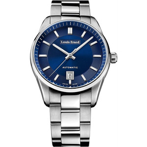 Louis Erard Men's Heritage Automatic Blue Dial Bracelet Watch 69101AA35M