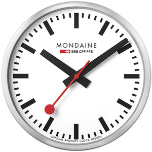 Mondaine White Swiss Railways Wall Clock A990.CLOCK.16SBB