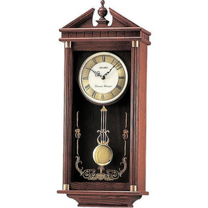 Seiko Westminster/Whittington Dual Chime Wooden Case Pendulum Wall Clock QXH107B