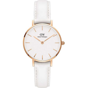Daniel Wellington Women's Classic Petite Bondi White Dial Leather Strap Watch DW00100189