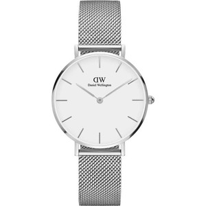 Daniel Wellington Women's Classic Petite Sterling White Dial Mesh Bracelet Watch DW00100164