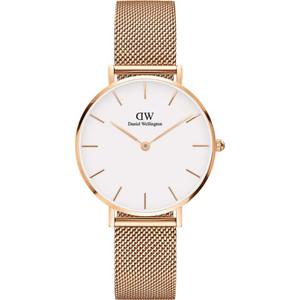 Daniel Wellington Women's Classic Petite Melrose White Dial Milanese Mesh Bracelet Watch DW00100163