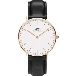 Daniel Wellington Women's Classic Sheffield White Dial Leather Strap Watch DW00100036