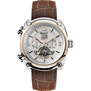 Ingersoll Men's The Michigan Automatic White Dial Leather Strap Watch I01103