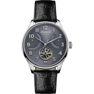 Ingersoll Men's The Hawley Automatic Blue Dial Leather Strap Watch I04604