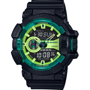 G-Shock Men's Alarm and Dual Digital Green Chronograph Watch GA-400LY-1AER
