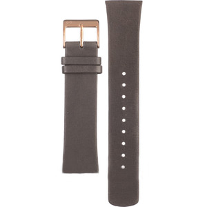 Skagen Replacement Grey Leather Watch Strap 20mm For SKW2346 With Free Pins