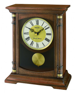 Seiko Westminster and Whittington Chimes Pendulum Mantel Clock QXQ034B