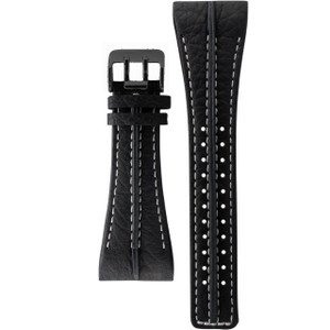 Police Replacement Black Leather Watch Strap For 10811JS/02