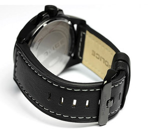 Police Leather Black Genuine 24 mm Watch Strap For 1259JSUB/02