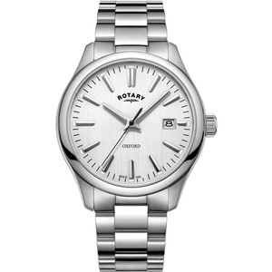 Rotary Men's Oxford Quartz Silver Dial Stainless-Steel Bracelet Watch
