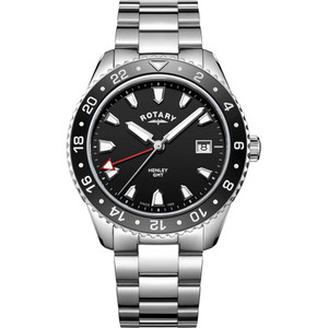 Rotary Men's Henley Quartz Black Dial Stainless-Steel Bracelet Watch GB05108/04