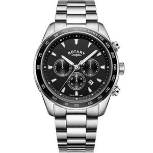 Rotary Men's Henley Chronograph Quartz Black Dial Bracelet Watch GB05109/04