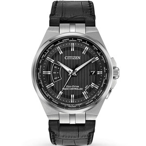Citizen Men's Eco-Drive World Perpetual A-T Radio Controlled Black Dial Watch CB0160-00E