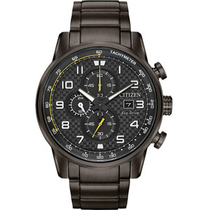 Citizen Men's Eco-Drive Primo Chronograph Black Dial Bracelet Watch CA0687-58E