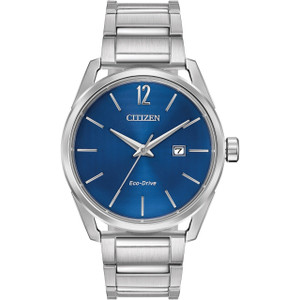 Citizen Eco-Drive Men's Blue Dial Stainless-Steel Bracelet Watch BM7410-51L