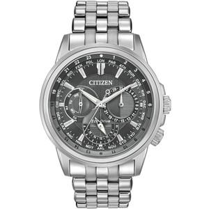 Citizen Men's Eco-Drive Calendrier Grey Dial Bracelet Watch BU2021-51H