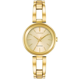 Citizen Women's Eco-Drive Axiom Champagne Dial Stainless-Steel Bracelet Watch EM0638-50P