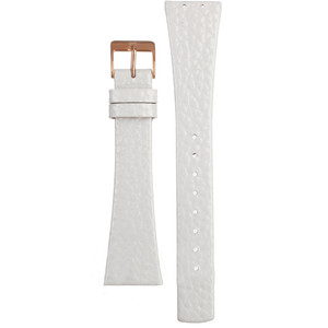 Skagen Replacement White Leather Watch Strap For 855SRLW With Free Connecting Screws