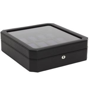 Wolf Windsor Black/Purple Wrist Watch Storage Box For 15 Watches 458503