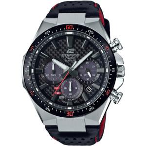 Casio Edifice Solar Carbon Sapphire Chronograph Leather Strap Watch EFS-S520CBL-1AUEF