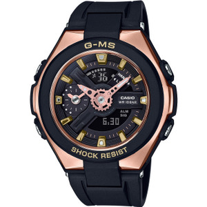 Casio G-MS Ladies Metallic Sports Black And Rose Gold Watch MSG-400G-1A1ER