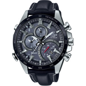 Casio Edifice Bluetooth Tough Solar Leather Strap Watch EQB-501XBL-1AER