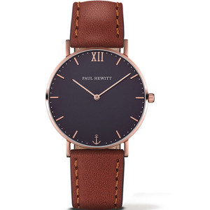 Paul Hewitt Ladies Sailor Line Dark Blue Dial Brown Leather Strap Watch PH-SA-R-SM-B-1S