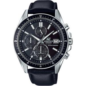 Casio Edifice Solar Sapphire Chronograph Leather Strap Watch EFS-S510L-1AVUEF