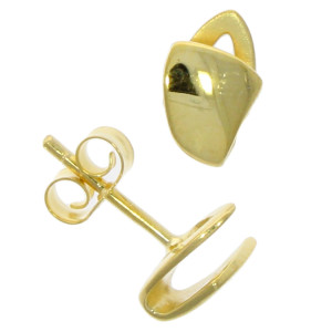 Fine Jewellery 9ct Yellow Gold Fold Over Earrings 4109516