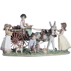Lladro Porcelain Enchanted Outing Children Sculpture Limited Edition 01001797