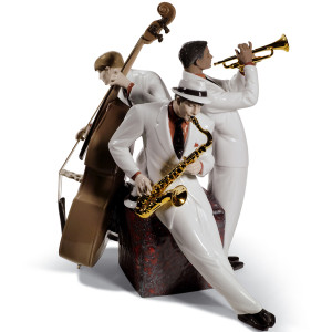 Lladro Porcelain Jazz Trio Figurine Limited Edition 01008568