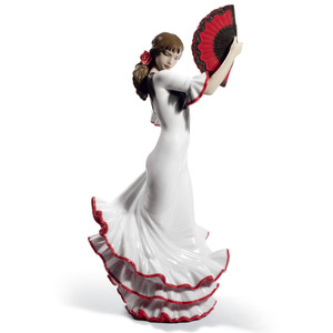 Lladro Porcelain Passion And Soul Flamenco Woman Figurine 60th Anniversary 01008683